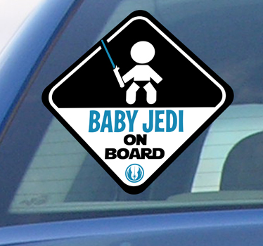 autocollant baby jedi on board