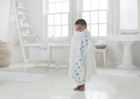 3 toddler towel fluro blue Aden & Anaïs
