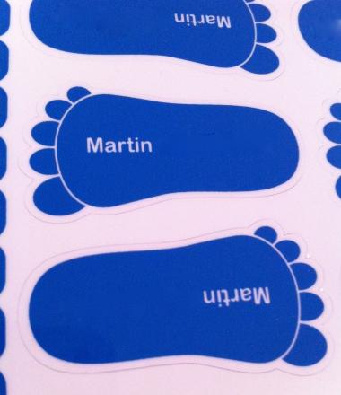 étiquettes personnalisées chaussures